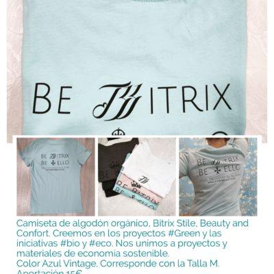 Camiseta Bitrix Luxury Sostenible. Azul. Talla M. Materiales que mejoran nuestra presencia en el mundo.